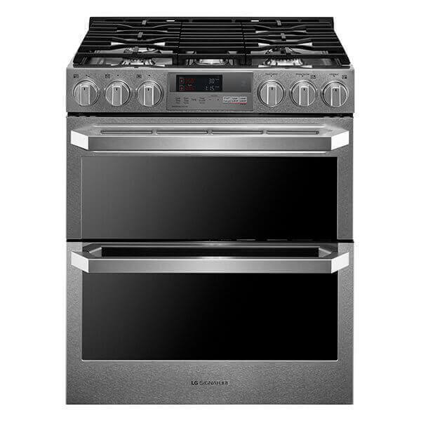 LG SIGNATURE 7.3 Cu.ft. Dual Fuel - Double Oven Range with ProBake Convection® Product Image